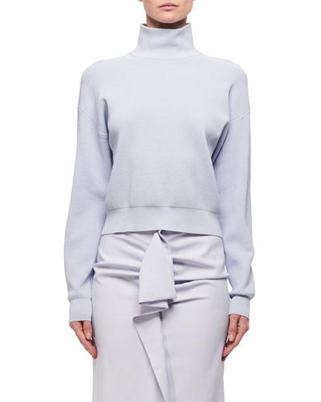 Carven Knitted Mock-Neck Short Sweater