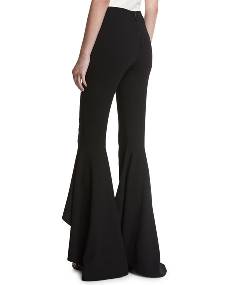 Jinny High-Waist High-Low Flare Pants