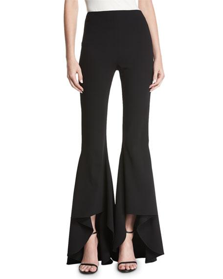 Jinny High-Waist High-Low Flare Pants