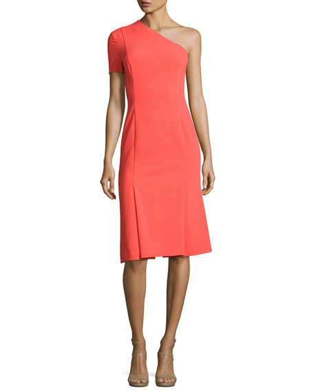 Black Halo Joyce One-Shoulder Dress, Canyon Coral