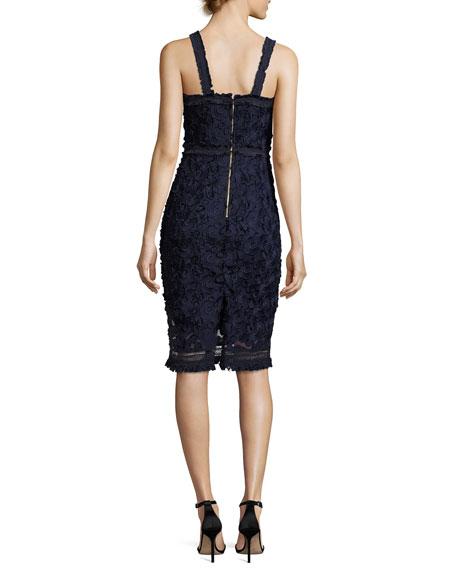Energetic Sleeveless Lace Sheath Dress