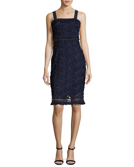 Trina Turk Energetic Sleeveless Lace Sheath Dress