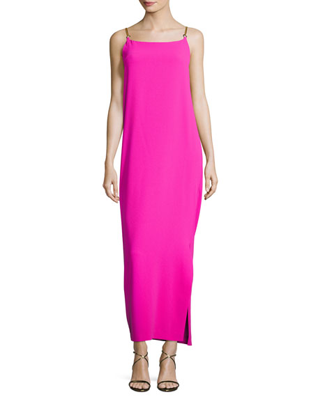 Trina Turk Benita Sleeveless Cowl-Back Column Dress