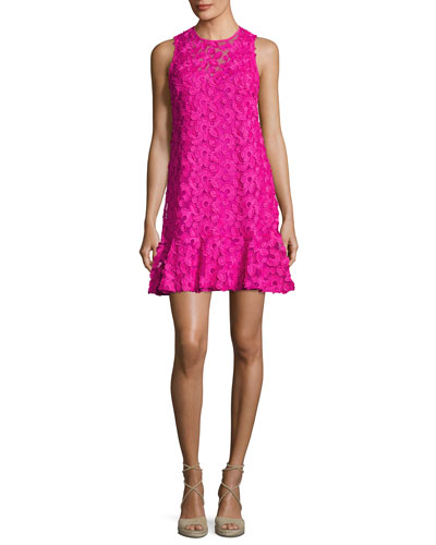 Trina Turk Barbra Sleeveless Lace Shift Dress