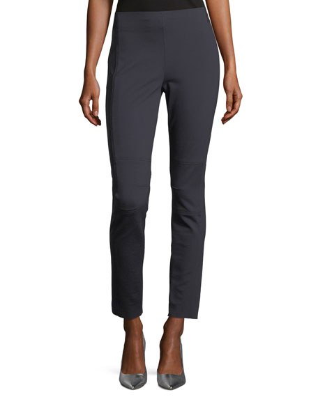 Elie Tahari Oleander Straight-Leg Stretch-Knit Ankle Pants