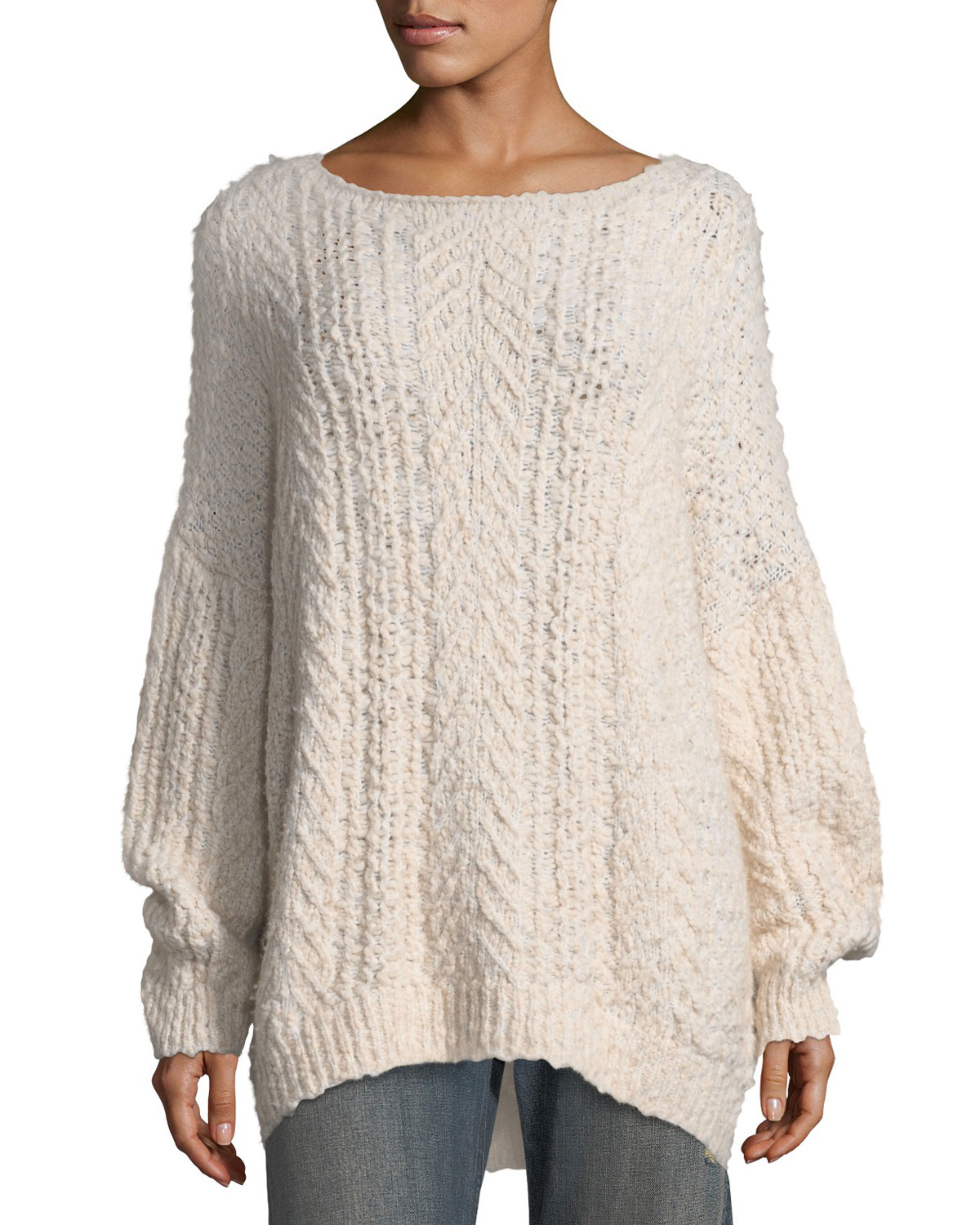 Vince Cable-Knit Boat-Neck Sweater  bf7584f15