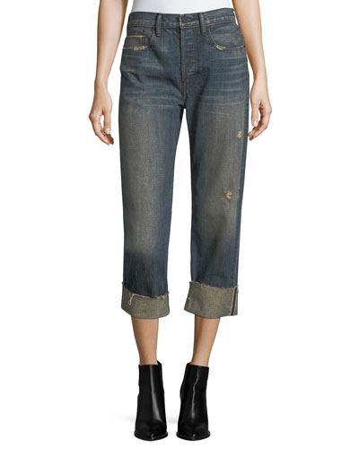 Cuffed Union Slouch Jeans