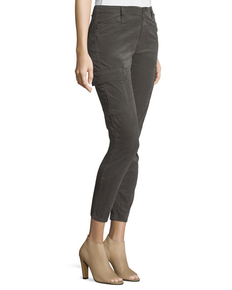 Corduroy Skinny Cargo Pants