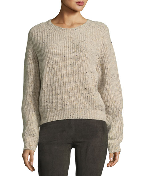 Vince Cropped Saddle Cashmere Pullover Sweater and Matching