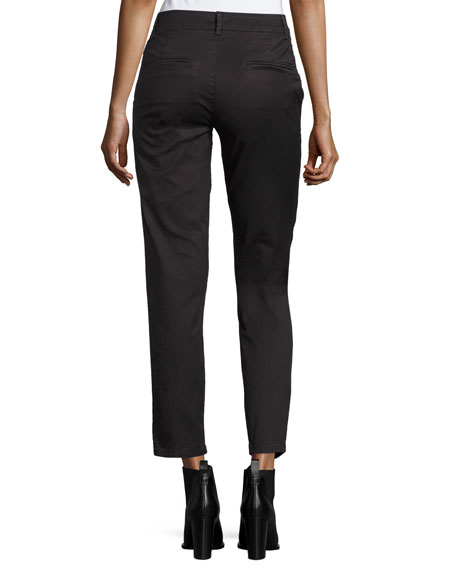 Classic Twill Crop Chino Pants