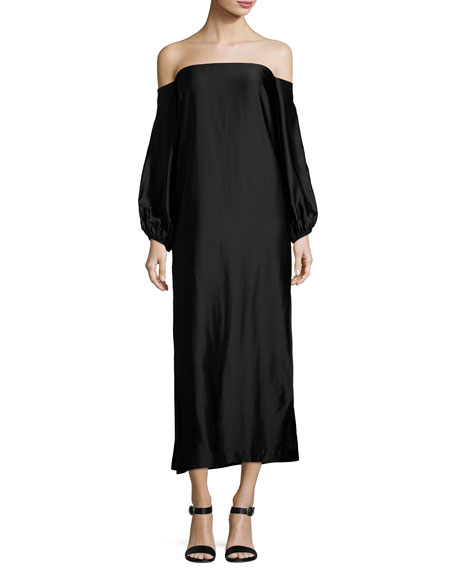 Elizabeth and James Malta Off-the-Shoulder Long-Sleeve Maxi Dress