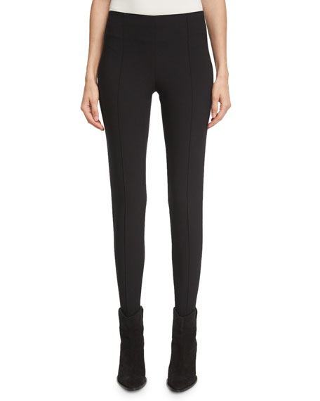 Skinny Stirrup Pants, Black