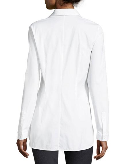 Jake Stretch-Cotton Button-Front Blouse