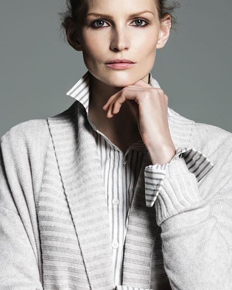 Supreme Stripe Jessie Button-Front Blouse