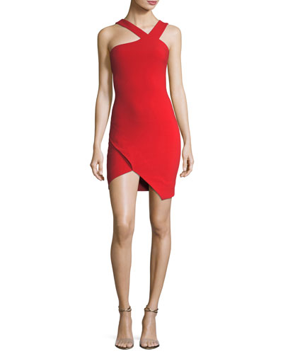 Glenchester Sleeveless Asymmetric Cocktail Sheath Dress