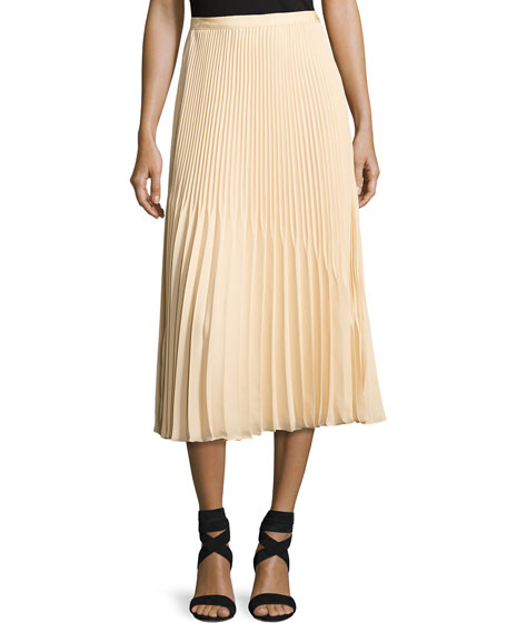 Elizabeth and James Yolanda Sunburst Pleated A-Line Skirt