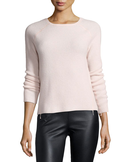 Elizabeth and James Karina Waffle-Knit Long-Sleeve Cashmere