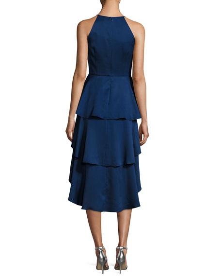 Sleeveless Tiered Skirt Cocktail Dress