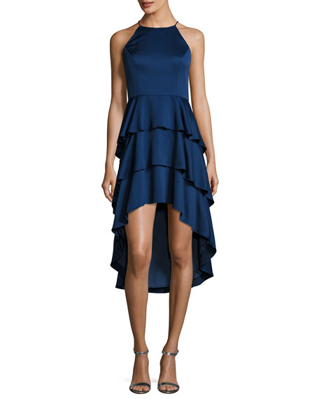 Aidan by Aidan Mattox Sleeveless Tiered Skirt Cocktail