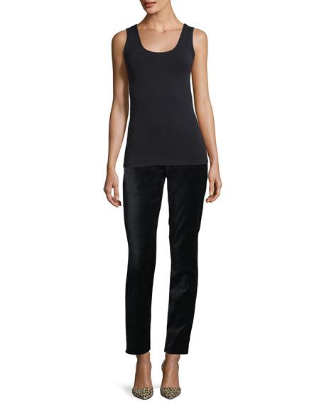 Rochelle Velvet Straight-Leg Pants