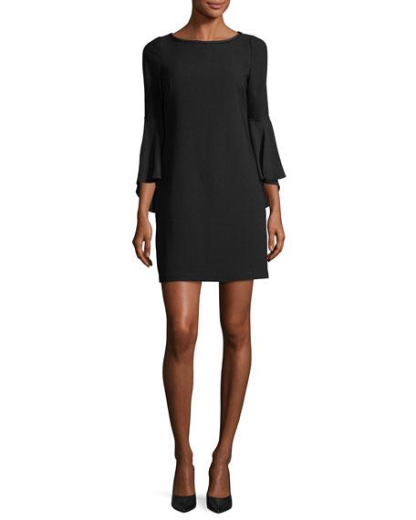 Esmarella Bell-Sleeve Shift Dress
