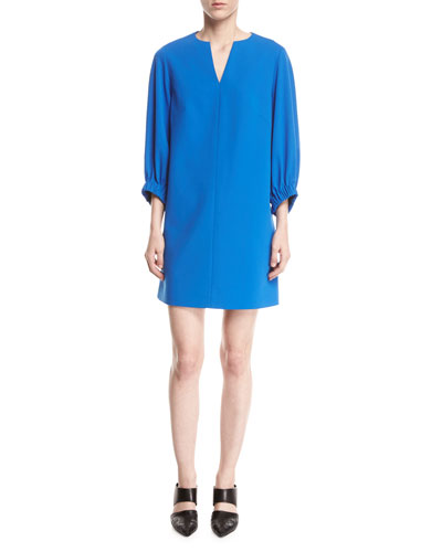 Stretch-Crepe Shift Dress