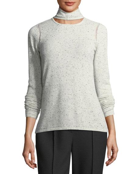 Sierra Choker-Collar Cashmere Sweater