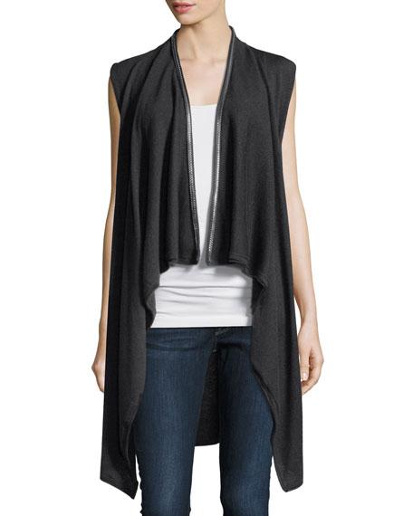 Elie Tahari Benny Chain-Trimmed Sweater Vest