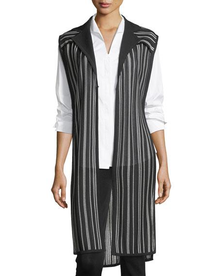 Vertical Lines Drama Vest, Plus Size