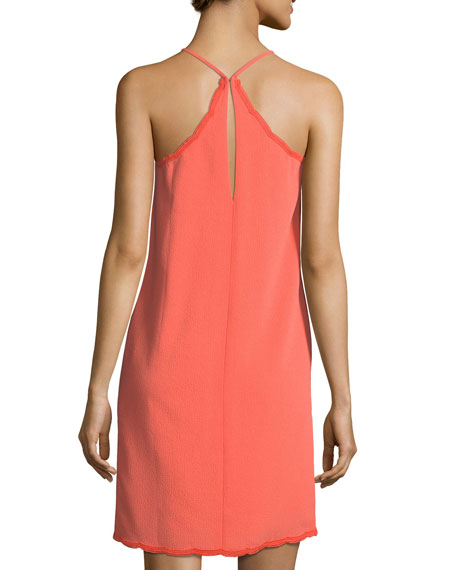 Scalloped Halter Day Dress