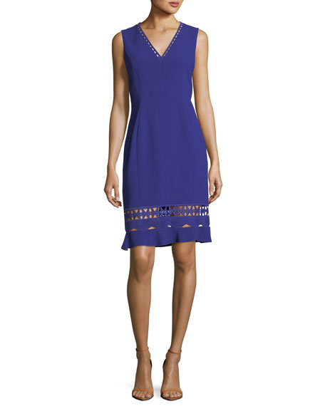 Elie Tahari Clarissa Sleeveless Fluid-Crepe Dress