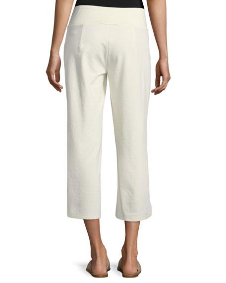 Cotton-Blend Ponte Wide-Leg Pants