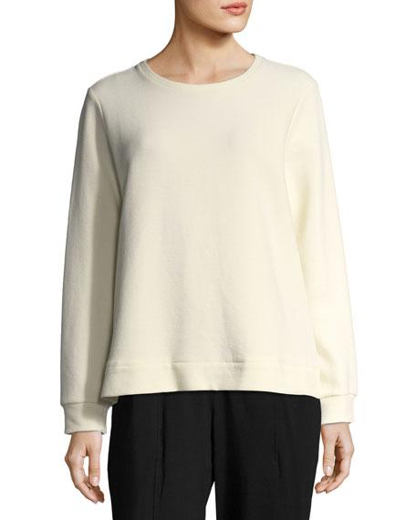 Eileen Fisher Organic Cotton-Blend Ottoman Pullover, Petite
