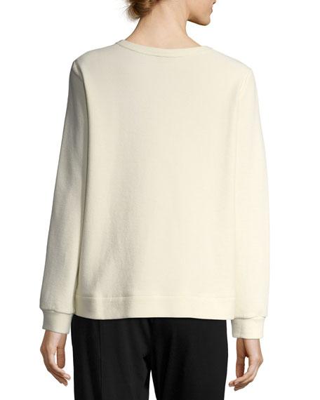 Organic Cotton-Blend Ottoman Pullover, Plus Size