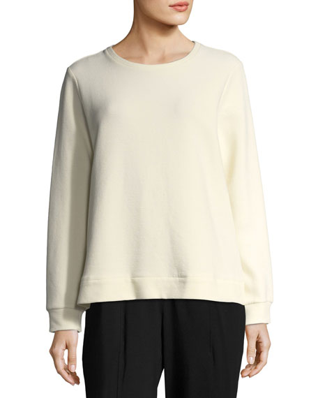 Eileen Fisher Organic Cotton-Blend Ottoman Pullover, Plus Size