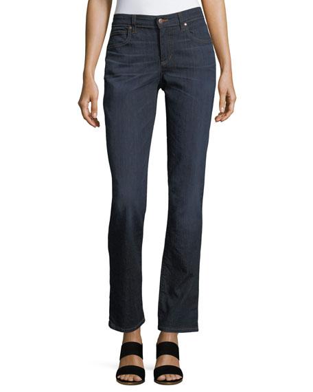 Eileen Fisher Organic Straight-Leg Jeans