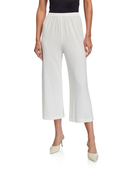 Caroline Rose Pants PETITE WIDE-LEG ANKLE PANTS