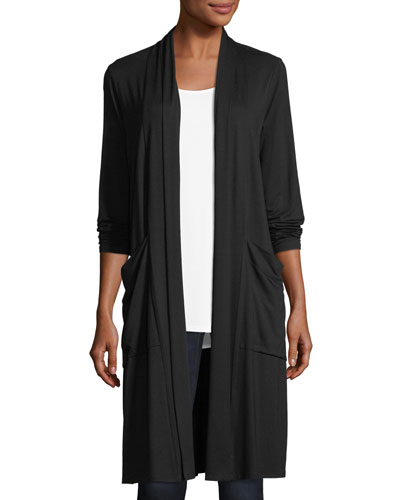 Lightweight Jersey Long Cardigan