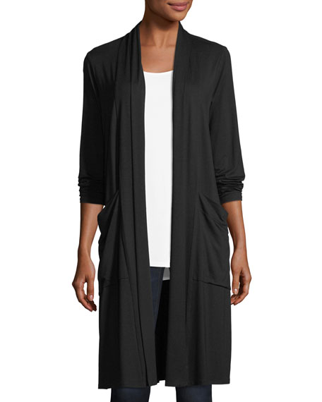 Eileen Fisher Lightweight Jersey Long Cardigan