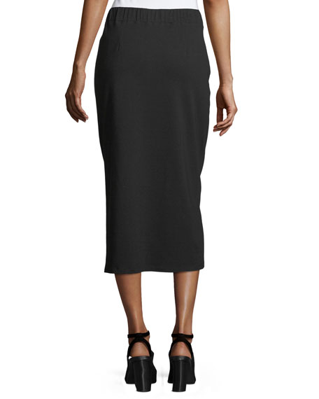 Organic Cotton Jersey Pencil Skirt, Petite