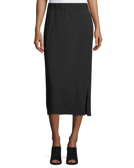 Eileen Fisher Organic Cotton Jersey Pencil Skirt, Petite