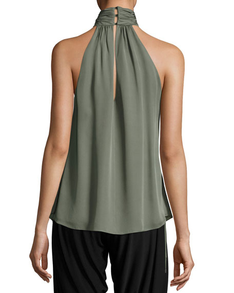 Halter-Neck Side-Tie Morrison Blouse