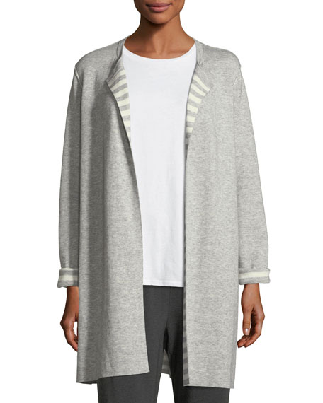 Eileen Fisher Organic Cotton Cashmere Reversible Cardigan, Petite