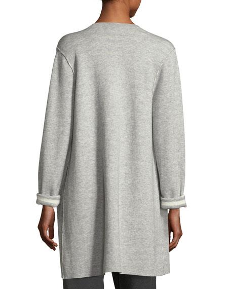 Organic Cotton Cashmere Reversible Cardigan, Plus Size