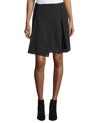 Howe Mixed Lace Kilt Skirt