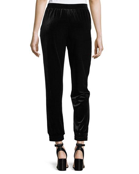 Velvet Cropped Jogger Pants