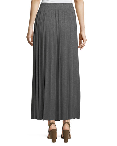 Jersey Pleated Long Skirt