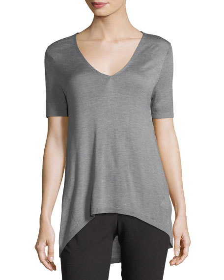 Halston Heritage V-Neck Sweater Tee