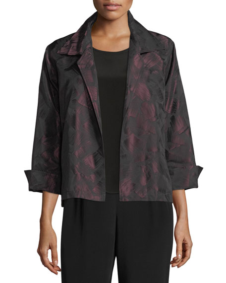 Caroline Rose Brushstroke Jacquard Gala Jacket, Petite