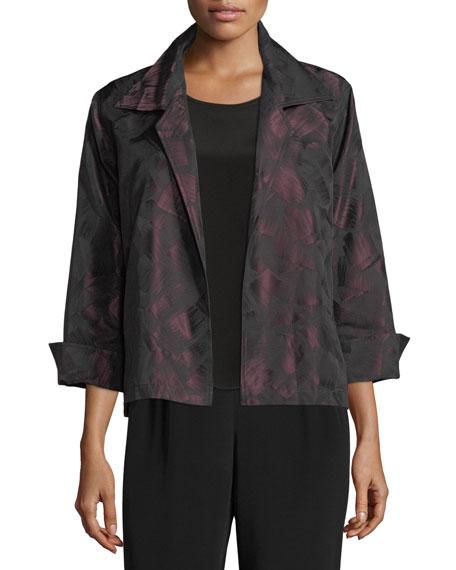 Caroline Rose Brushstroke Jacquard Gala Jacket, Plus Size